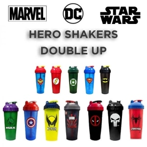 Performa BPA Free Super Hero Shakers Double Up