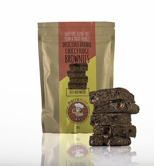 Macro Mike Double Chocolate Fudge Brownies