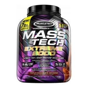 mass tech mass gainer 7lb choc brownie