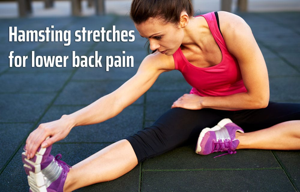 Hamstring stretches for lower back pain