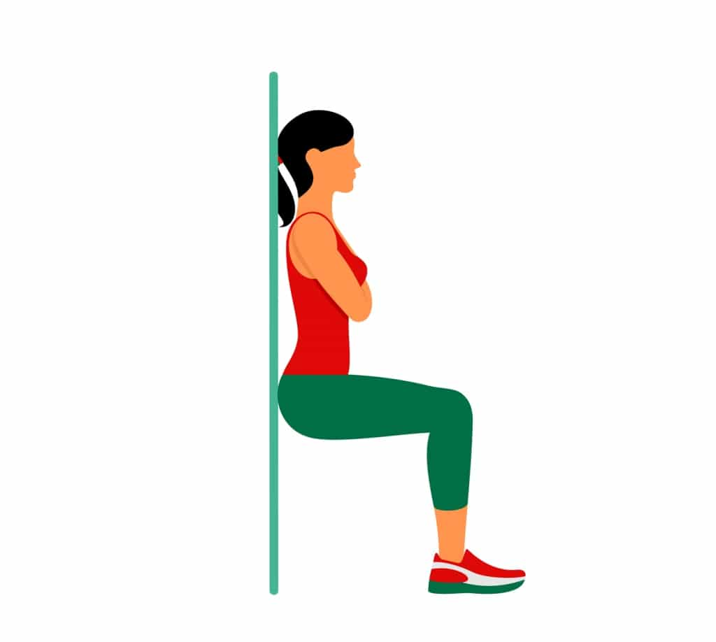 Wall Sit for lower back pain