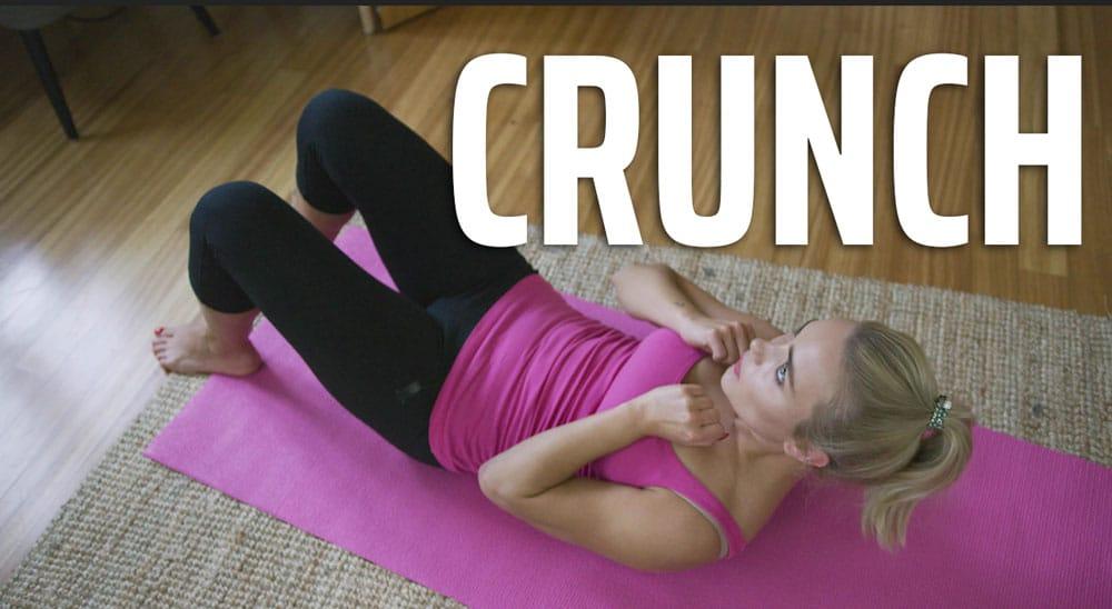 Crunches calisthenics program